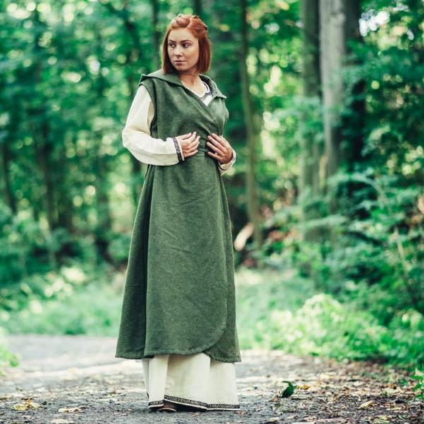 Vestito a portafoglio Thyra, verde