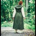 Leonardo Carbone Vestido cruzado Thyra, verde