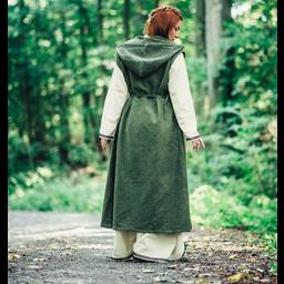 Sukienka owijana Thyra, zielona
