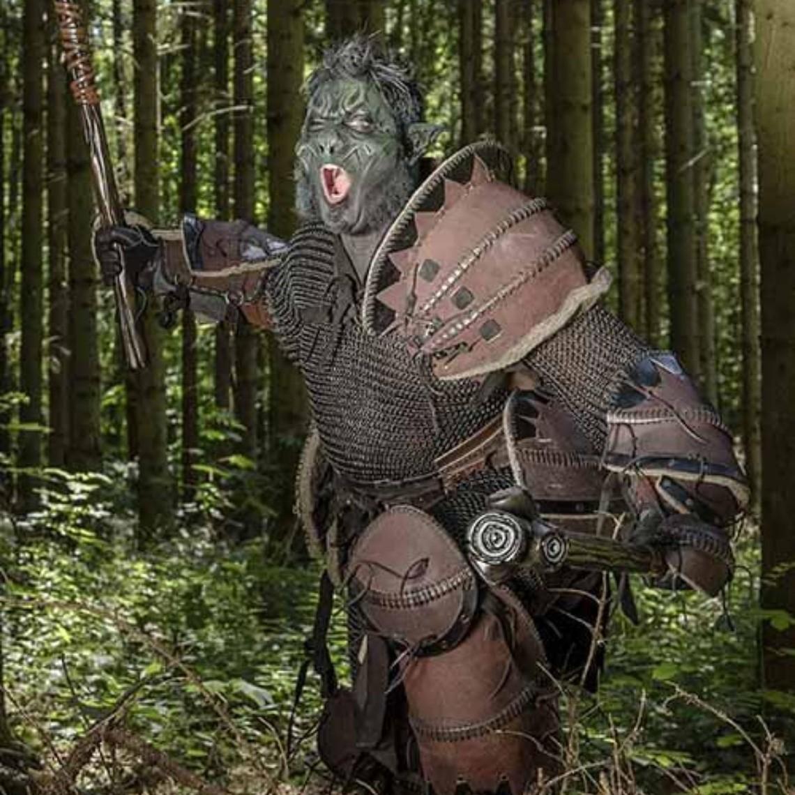 Epic Armoury Orc armature di cuoio pieno, marrone