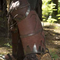 Orc full leather armor, brown