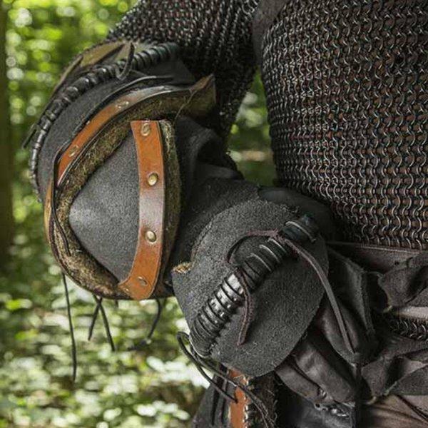 Epic Armoury Orc pełny skórzany pancerz, czarny