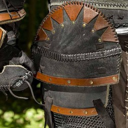 Orc full läder rustning, svart