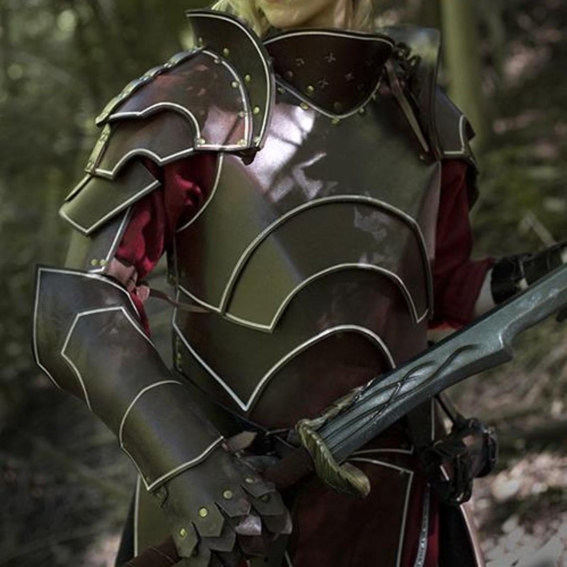 Epic Armoury ensemble d'armure en cuir noir complet Elven