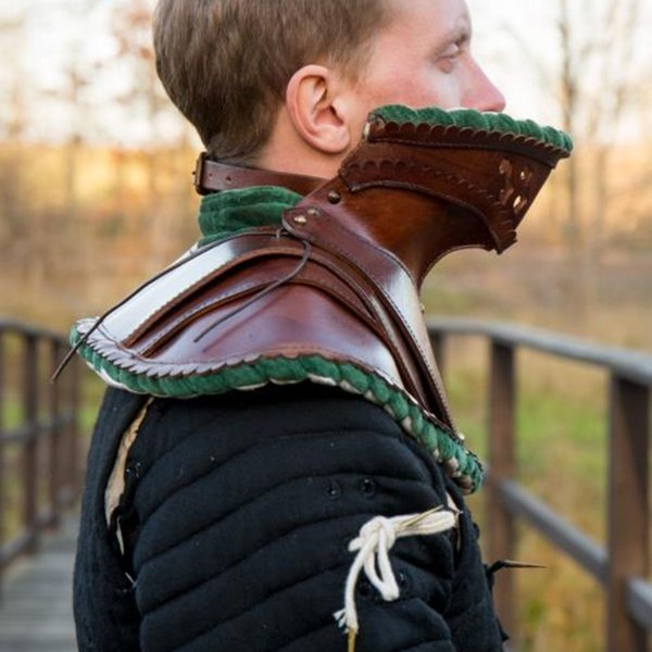 Epic Armoury cuir noble gorget, vert