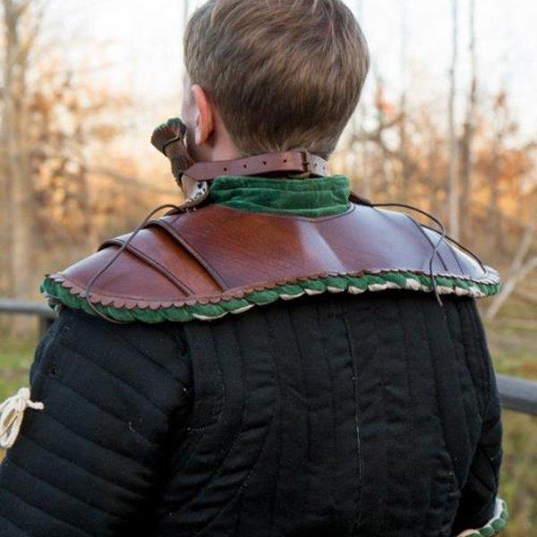 Epic Armoury Edles Leder gorget, grün