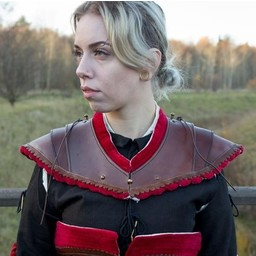 Noble leather gorget, red
