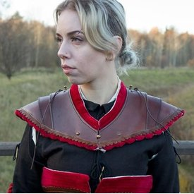 Epic Armoury gorgiera in pelle nobile, rosso