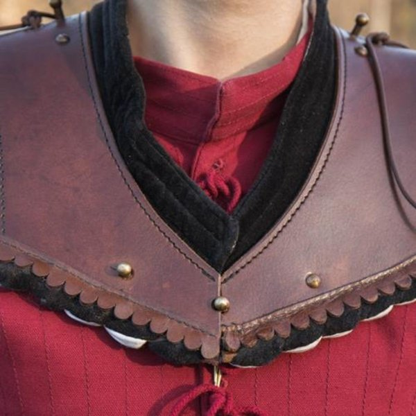 Epic Armoury Noble læder Gorget, sort