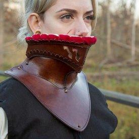 Epic Armoury Lange Leder Bevor, rot