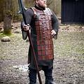 Epic Armoury Brigandine de cuero largo, marrón