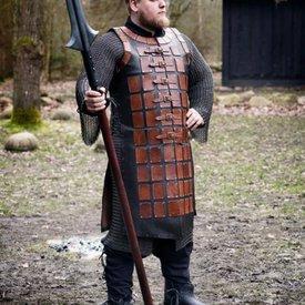 Epic Armoury Brigantino in pelle lungo, marrone