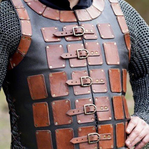 Epic Armoury Brigandine en cuir longue, marron