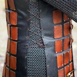 Brigandine de cuero largo, marrón