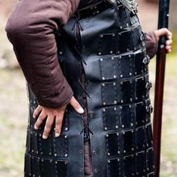 Brigandine de cuero largo, negro