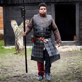 Epic Armoury Brigandine en cuir long, noir