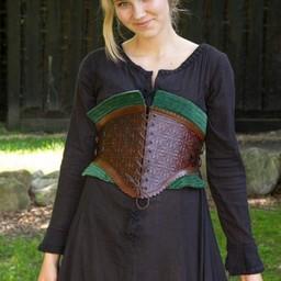 Lederkorsett Margot, grün