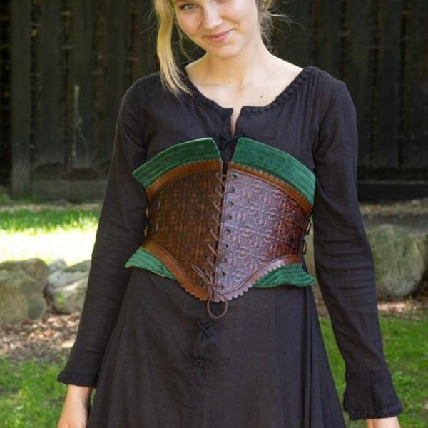 Epic Armoury Corsetto in pelle Margot, verde