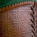 Epic Armoury Corset en cuir Margot, vert
