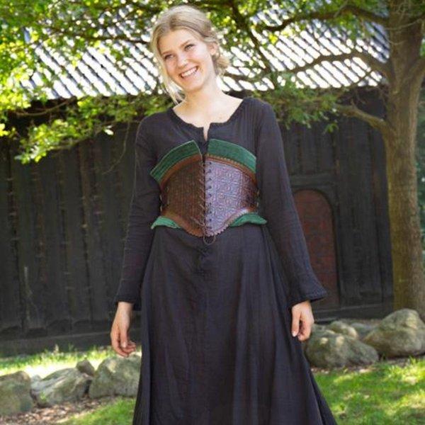 Epic Armoury Skórzany gorset Margot, zielony