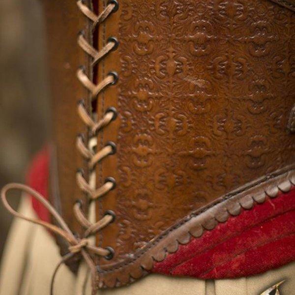 Epic Armoury Corset en cuir Margot, rouge