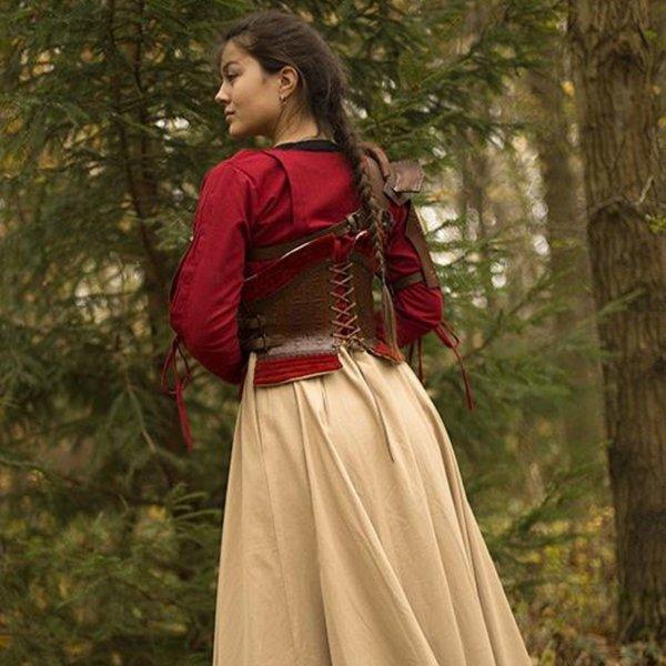 Epic Armoury Læderkorset Margot, rød