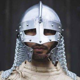 Epic Armoury Casco de espectáculo vikingo con cota de malla