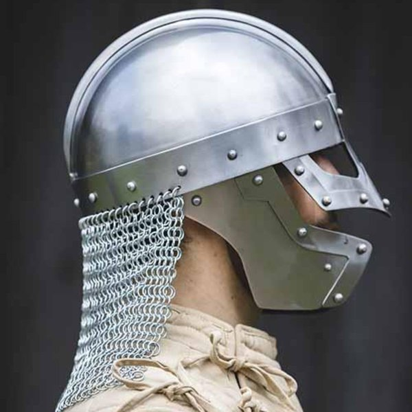 Epic Armoury Wikinger-Brillenhelm mit Kettenhemd