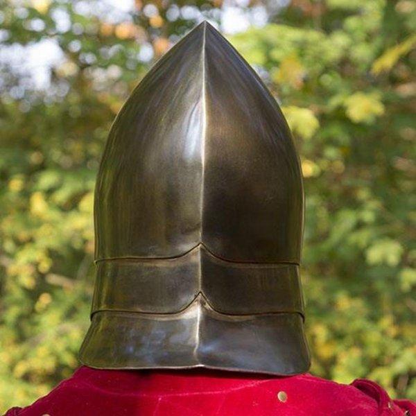Epic Armoury Helm Illumine, messingfarben