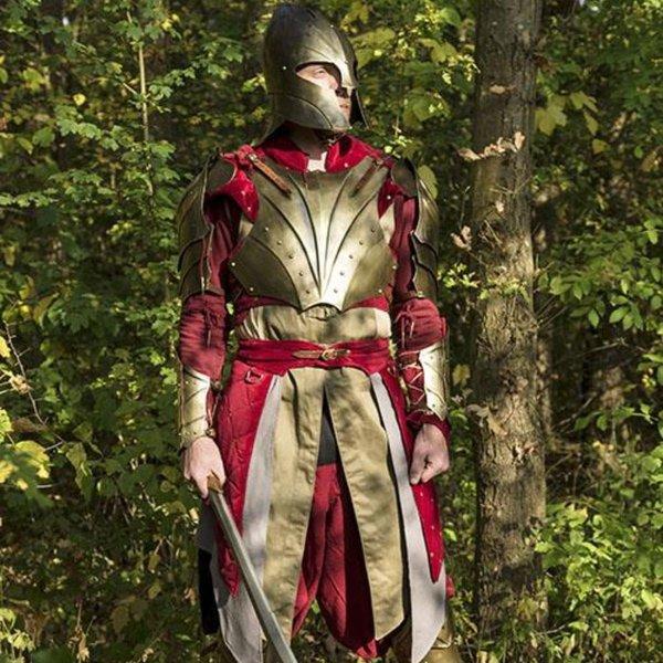 Epic Armoury Hjelm Illumine, messingfarve