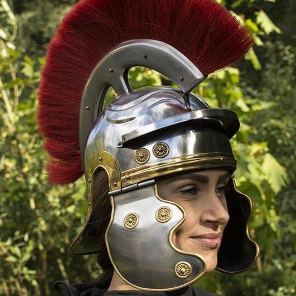 Epic Armoury casque légionnaire romain avec une crête rouge