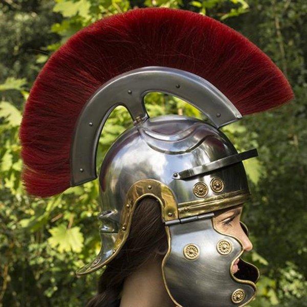 Epic Armoury Roman legionista kask z czerwonym grzebieniem
