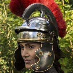 Roman legionista kask z czerwonym grzebieniem