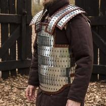 Hauberk with mid-length sleeves, bronzed, 8 mm