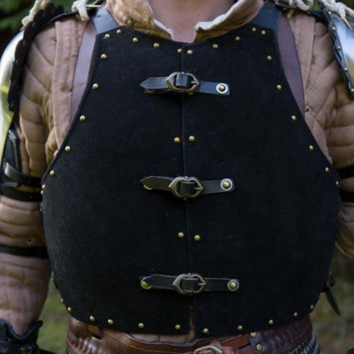 15de eeuwse brigandine, zwart