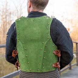 15th century brigandine, green