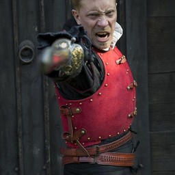 15th century brigandine, red