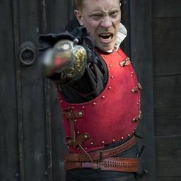 Brigandine del siglo XV, rojo