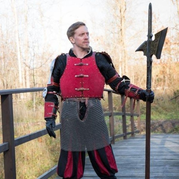 Epic Armoury Brygandyn z XV wieku, czerwony