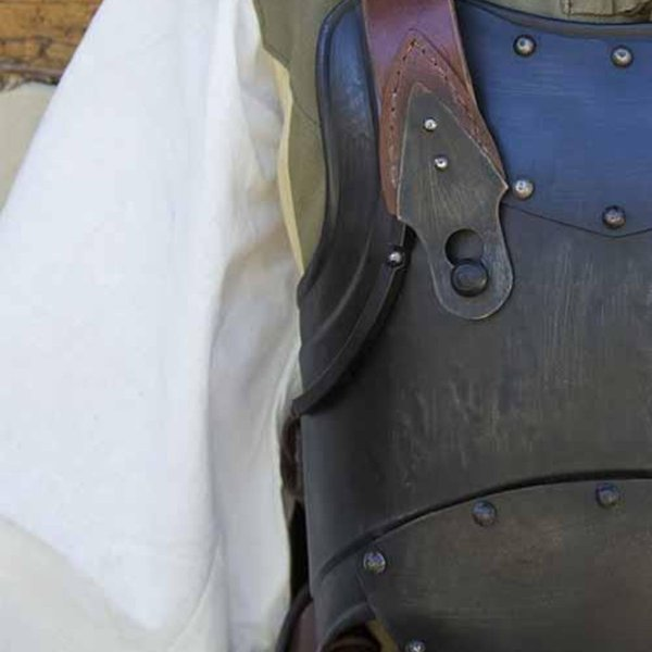 Epic Armoury Merc steel-leather cuirass, bronzed