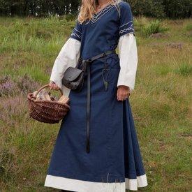 Gothic Kleid Fiona, blau-natürliche