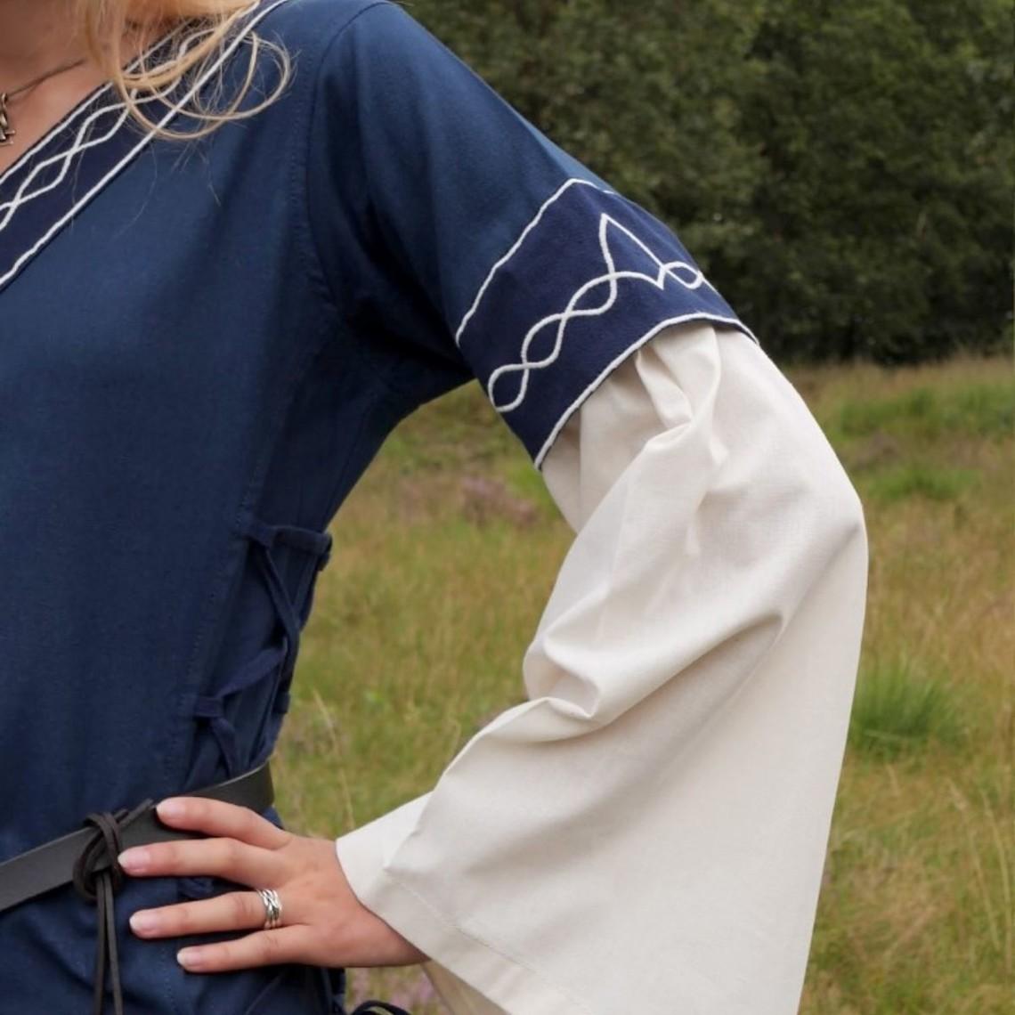 Vestido gótico de fiona, azul natural.