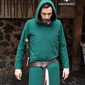 Burgschneider Middeleeuwse tuniek met kap Renaud, groen