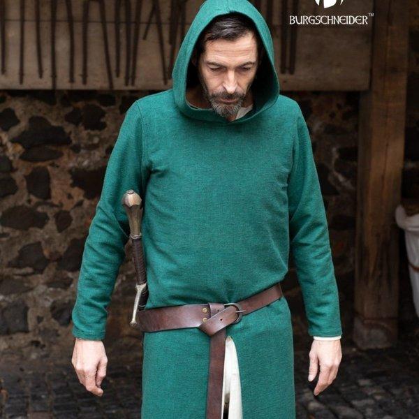 Burgschneider Tunica medievale con cappuccio Renaud, verde