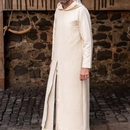 Middeleeuwse tuniek met kap Renaud, naturel