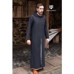 Medieval hooded tunic Renaud, black