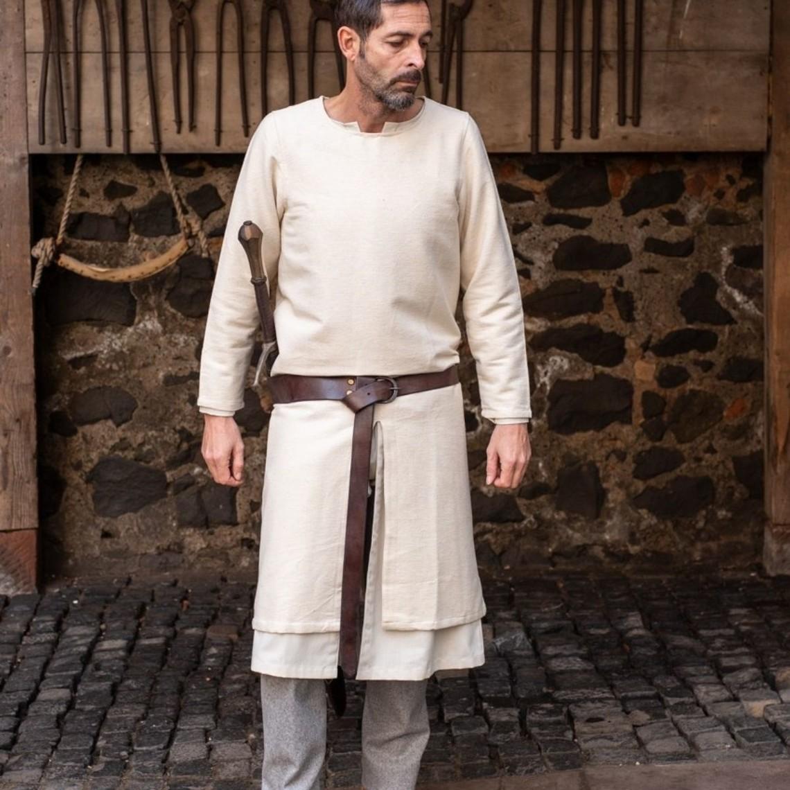 Burgschneider Lång medeltida tunika Arnaud, naturlig