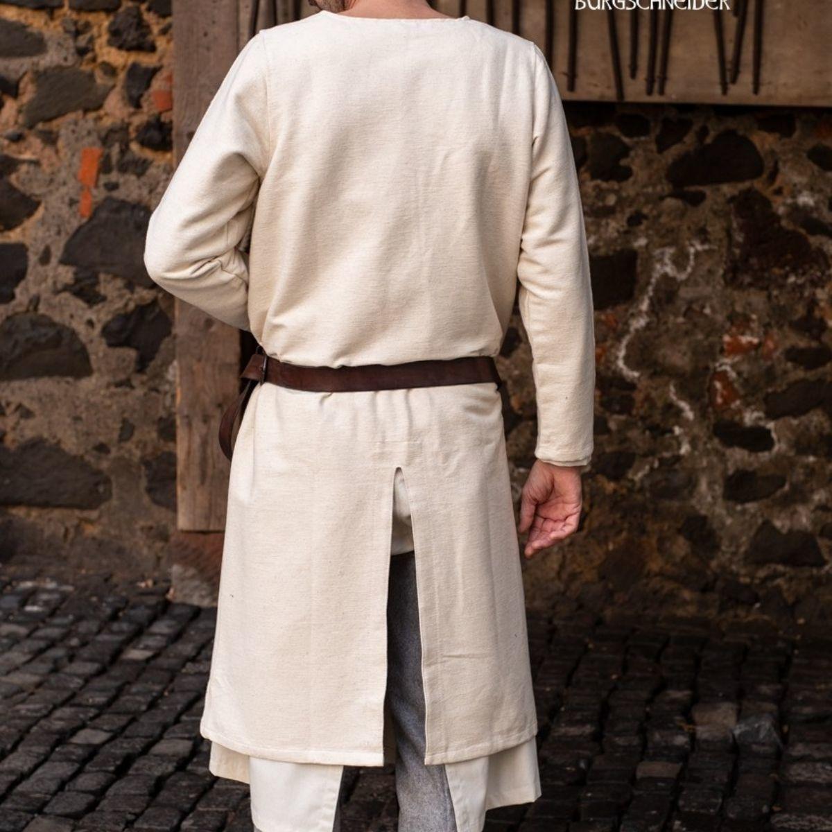 Lange middeleeuwse tuniek Arnaud, naturel