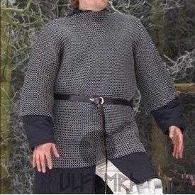 Ulfberth Kettenhemd mit halber Länge Ärmel, Rundringe-Rundnieten, 8 mm