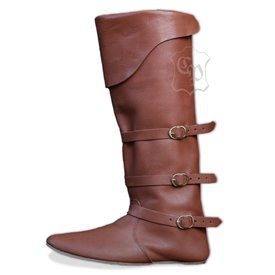Późnośredniowiecznego buty z paskami